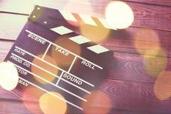 影片拍板,特写镜头视图 库存图片