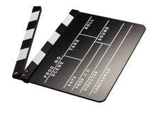 影片摄影的Clapperboard 免版税库存图片
