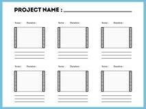 影片故事画板构成场面模板 向量例证