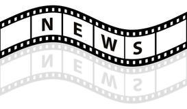 影片新闻主街上 免版税库存图片