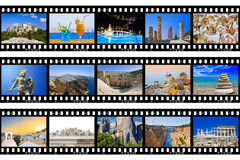 影片框架-希腊旅行(我的照片) 库存照片