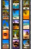 影片框架-马尔代夫使射击靠岸我的照片 免版税库存照片