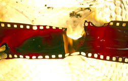 影片熔化 库存图片