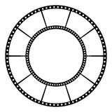 影片磁带 也corel凹道例证向量 库存照片