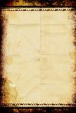 影片脏的纸张 免版税库存图片