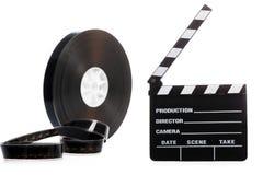影片轴和戏院拍手 免版税图库摄影