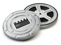 影片轴和箱子 录影,电影,戏院葡萄酒概念 向量例证