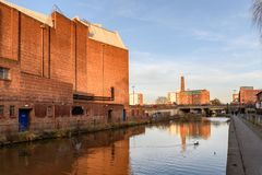彻斯特运河英国 库存照片