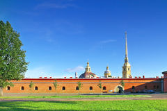 彼得和保罗堡垒。 圣彼德堡。 库存照片
