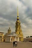 彼得和保罗堡垒在圣彼德堡,俄罗斯。 免版税图库摄影