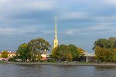彼得和保罗堡垒在圣彼德堡,俄罗斯。 库存图片