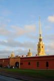 彼得和保罗堡垒在圣彼德堡,俄罗斯 免版税库存照片