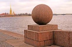 彼得和保罗堡垒在圣彼德堡,俄罗斯 图库摄影