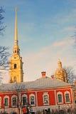 彼得和保罗堡垒在圣彼德堡,俄罗斯 免版税库存图片