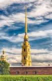 彼得和保罗堡垒,圣彼得堡,俄罗斯的看法 免版税库存图片