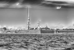 彼得和保罗堡垒,圣彼得堡,俄罗斯的看法 库存图片