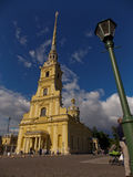 彼得和保罗大教堂在圣彼德堡 图库摄影