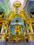 彼得和保罗大教堂的内部在圣彼德堡 免版税库存图片