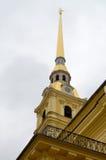 彼得和保罗大教堂的尖顶 免版税库存照片