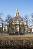 彼得和保罗大教堂的看法在彼得和保罗堡垒 圣彼德堡 俄国 库存照片