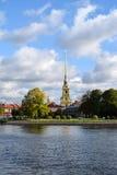 彼得和保罗的堡垒在圣彼德堡,俄罗斯 免版税库存图片
