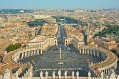 彼得圣徒正方形梵蒂冈 库存照片