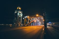 彼得大帝桥梁,圣彼德堡,俄罗斯 库存图片