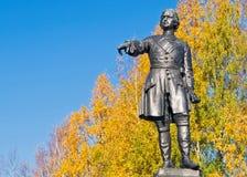 彼得大帝,彼得罗扎沃茨克,卡累利阿,俄罗斯修饰了 免版税库存照片