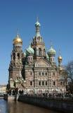 彼得斯堡俄国圣徒寺庙 免版税库存图片