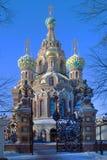 彼得斯堡圣徒 复活(救主在溢出血液)的正统寺庙 免版税库存图片