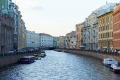 彼得斯堡堤防河moika 库存图片