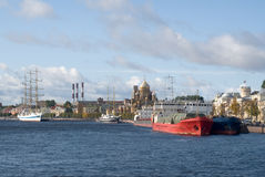 彼得斯堡端口海运st 库存图片