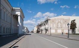 彼得斯堡街道看法。喀山。俄罗斯 库存图片