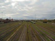 彼得斯堡铁路 库存图片