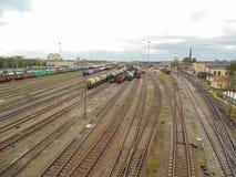 彼得斯堡铁路 免版税库存图片