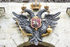 彼得斯堡,俄罗斯, 2016年10月3日:与双重头, sym的老鹰 免版税库存照片