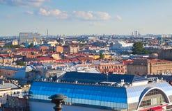 彼得斯堡st顶视图 免版税库存照片