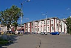 彼得罗扎沃茨克 建筑木芬兰房子1910- 库存图片