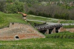 彼得罗瓦拉丁堡垒在诺维萨德,塞尔维亚,室外看法 库存照片
