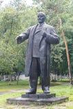 彼得罗巴甫尔,哈萨克斯坦- 2016年8月11日:对列宁的纪念碑 免版税库存照片