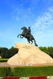 彼得1座纪念碑在圣彼德堡 库存图片