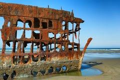 彼得Iredale船击毁处于低潮中 免版税库存图片