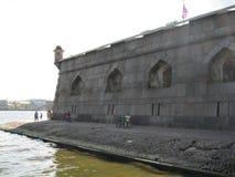 彼得Pavel ` s堡垒的墙壁 免版税库存照片