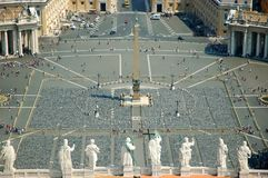 彼得s圣徒正方形梵蒂冈 免版税库存照片