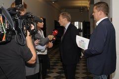 彼得SKAARUP_VICE领导OD丹麦人党 免版税库存图片