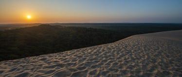 彼拉多,法国沙丘  最大的含沙沙漠在欧洲 免版税图库摄影
