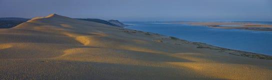 彼拉多,法国沙丘  最大的含沙沙漠在欧洲 库存图片