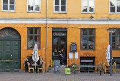 彼泽Oxe餐馆在哥本哈根 免版税库存照片