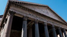 往万神殿的中央门面的Hyperlapse,罗马 股票视频