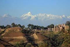 往喜马拉雅山2 图库摄影